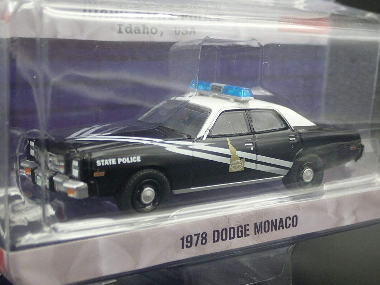Idaho State Police 1:64 Scale Greenlight 42880-C Hot Pursuit Series 31-1978 Dodge Monaco