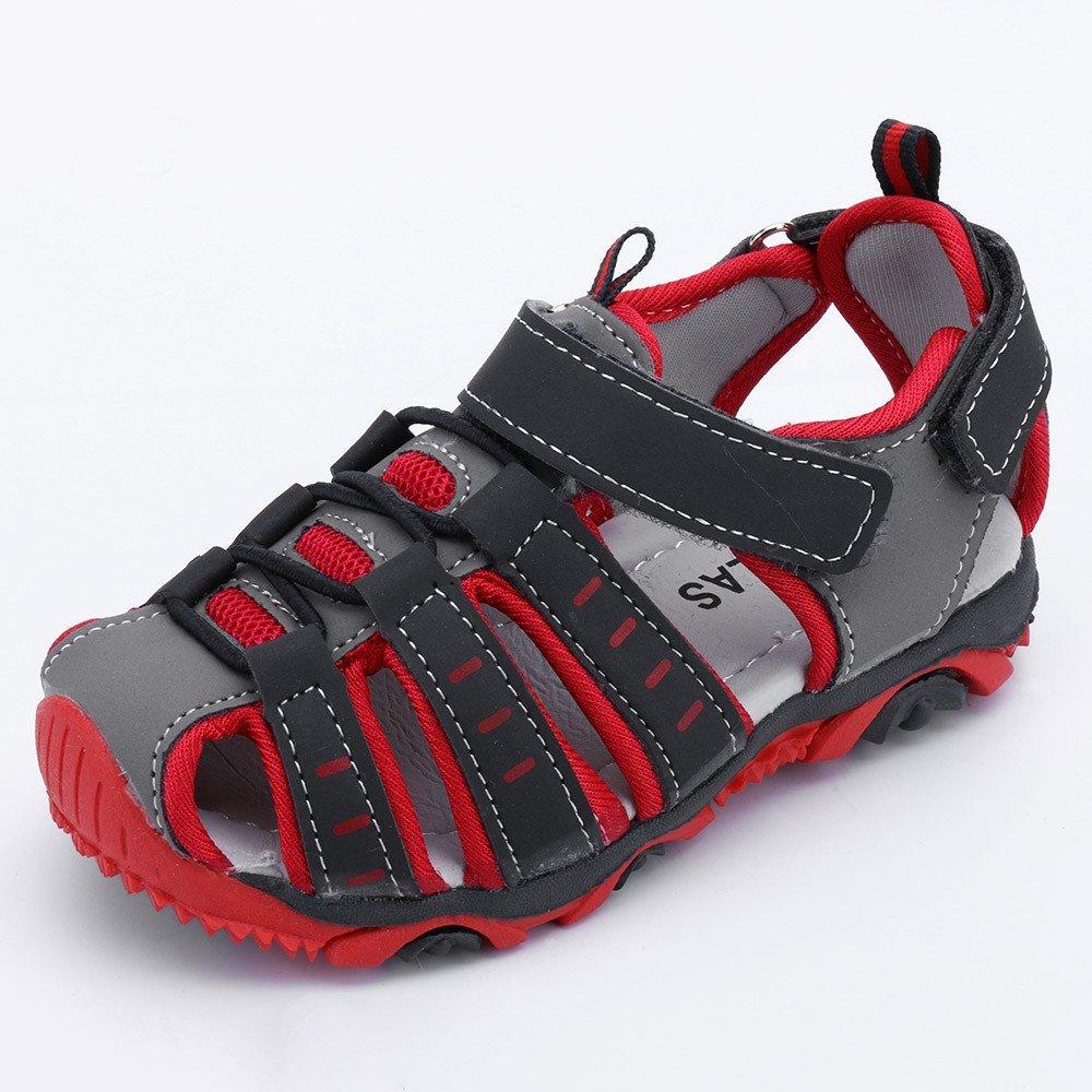 SANFASHION Unisex Kinder Sandalen Jungen M/ädchen Geschlossen Klettverschluss Sommer Kinder Schuhe Atmungsaktiv Strand Trekking Wandern Turnschuhe