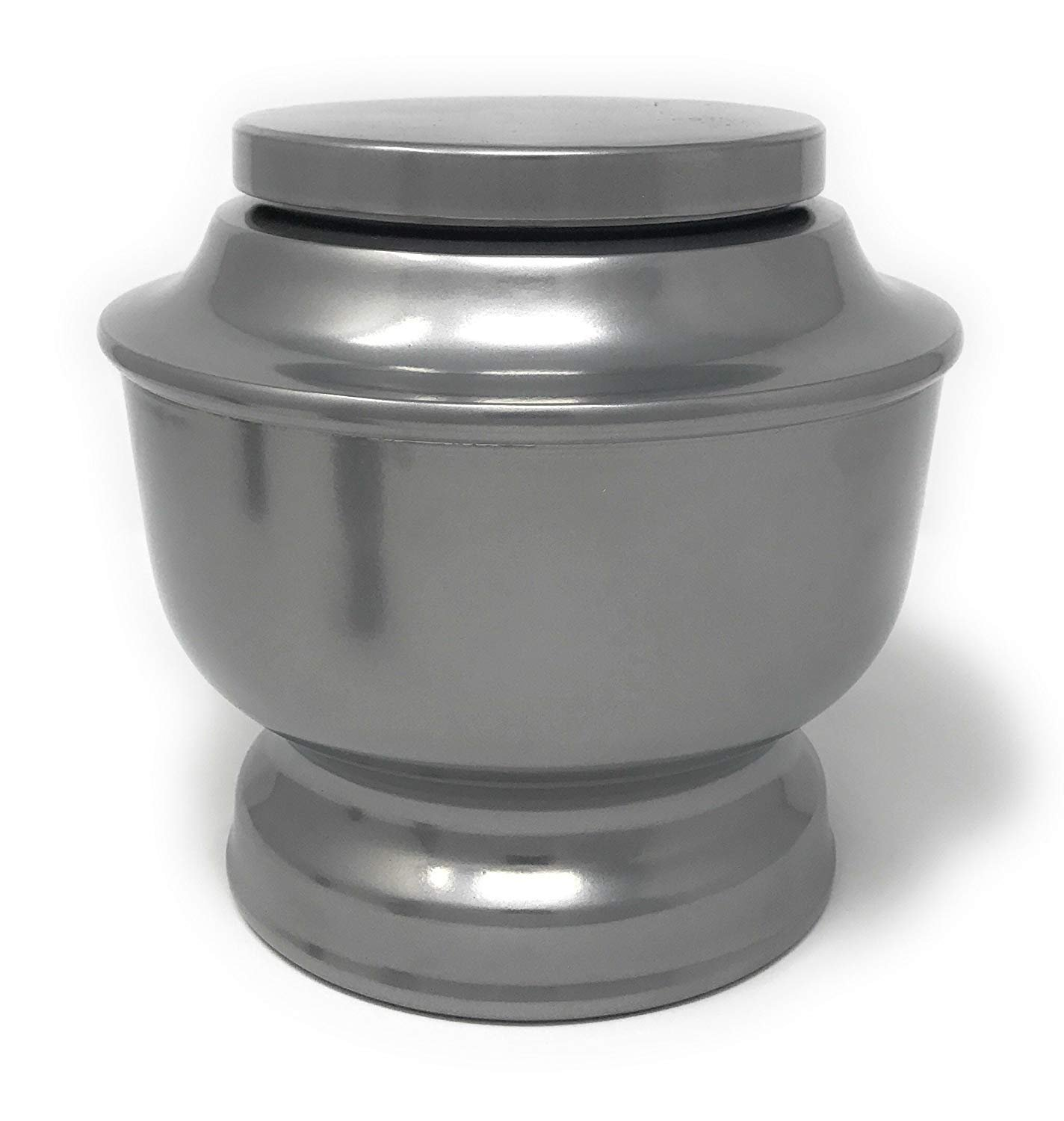 SmartChoice Classic Funeral Cremation Urn for Human Ashes a Variety of Colors Available Adult Urn with Velvet Bag (Silver)