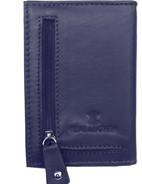 Navy Primehide Leather Credit Card Holder Cards 20 Sleeves