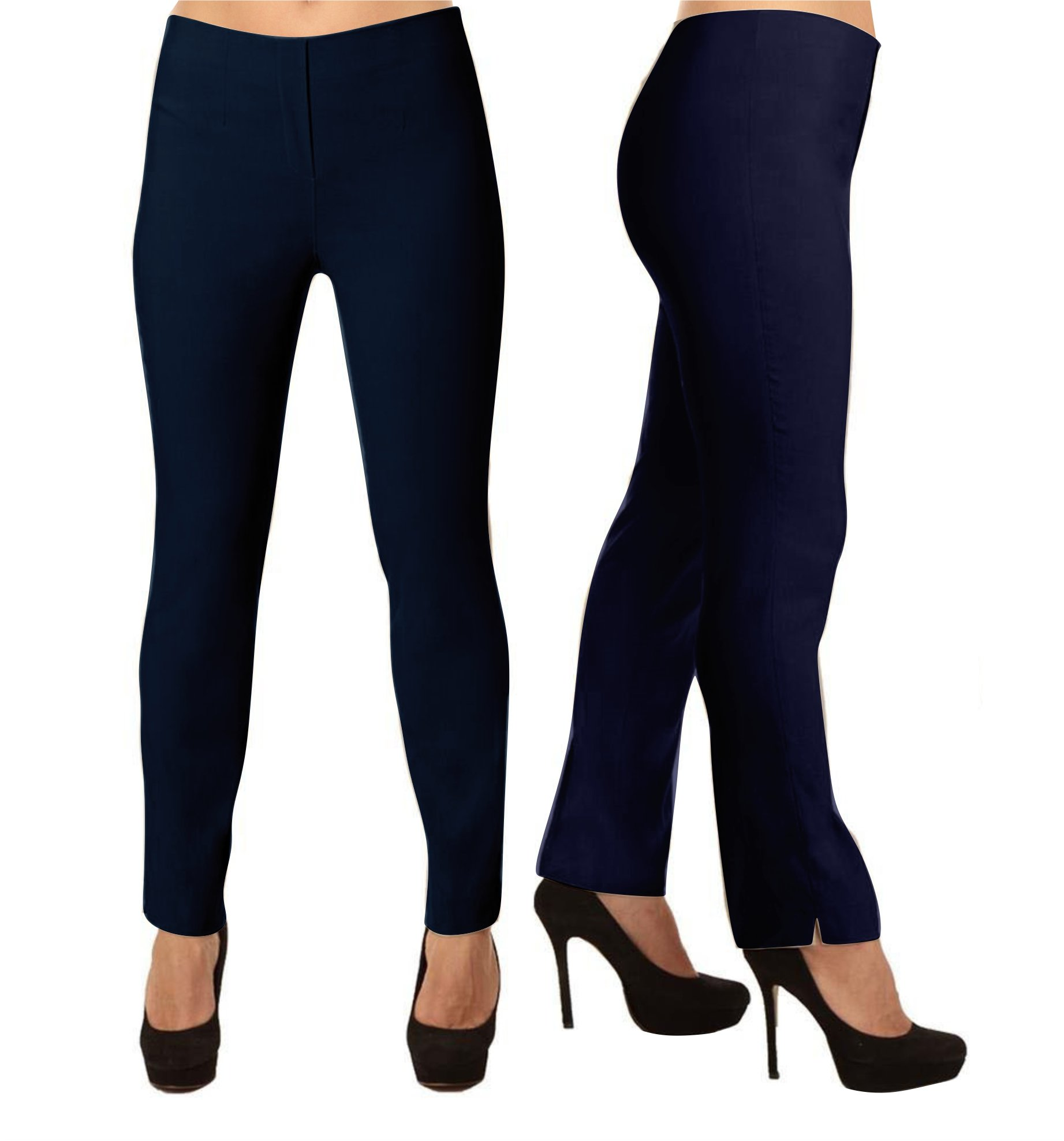 Lior Paris LIZE a Classic Fit Straight Pant For EveryBody. (3, Navy) by Lior paris