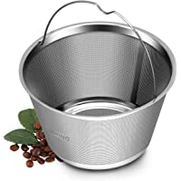4~5 Cup Reusable Permanent Coffee Filters, Perfect Fit Mr Coffee Coffee Makers and Brews, Replace for 4 Cup Mr Coffee Gold Tone Coffee Filters and Not fit K Duo Filters (4 cup basket filters)