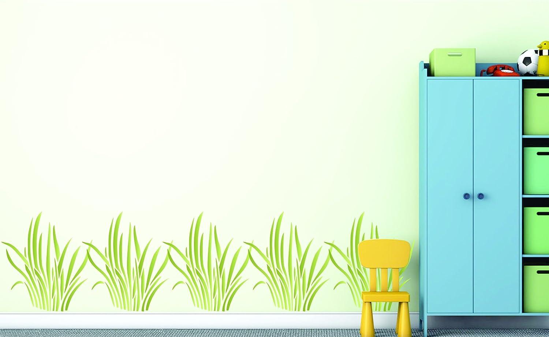 Herbe Pochoir/ S /Utilisation sur papier projets Journal de scrapbooking murs sols Tissu meubles en verre Bois etc /r/éutilisable Grande Sedge anches b/éb/é enfant Chambre denfant murale Pochoir/