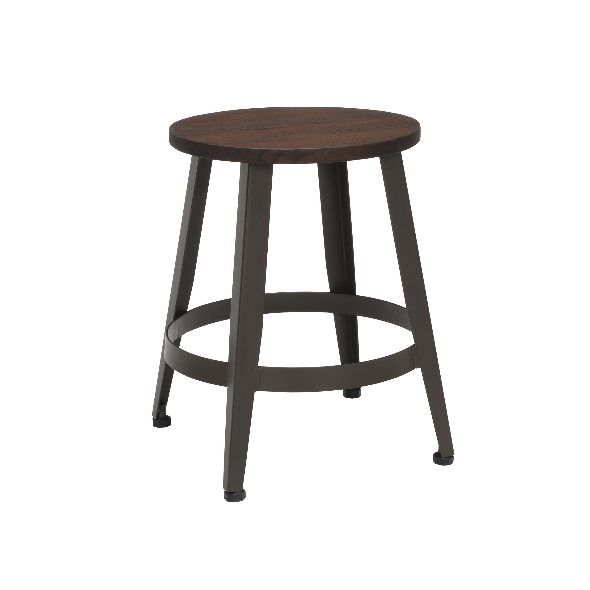 OFM Core Collection Edge Series 18'' Table Height Metal Stool, in Walnut (33918W-WLT)