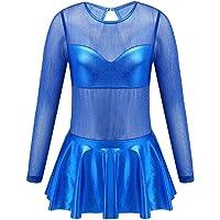 ranrann Vestido de Danza Ballet Manga Larga para Niña Maillot de Gimnasia Rítmica con Falda Tul Leotardo Elástico de…