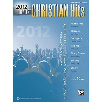 Amazon Com Alfred 2012 Greatest Christian Hits Pvc Book Sheet