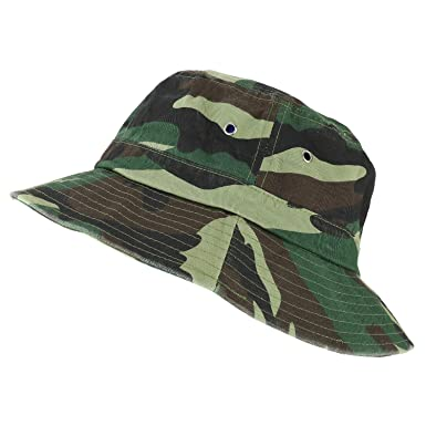 Trendy Apparel Shop Oversize XXL - XXXL Short Brim Outdoor Bucket Hat