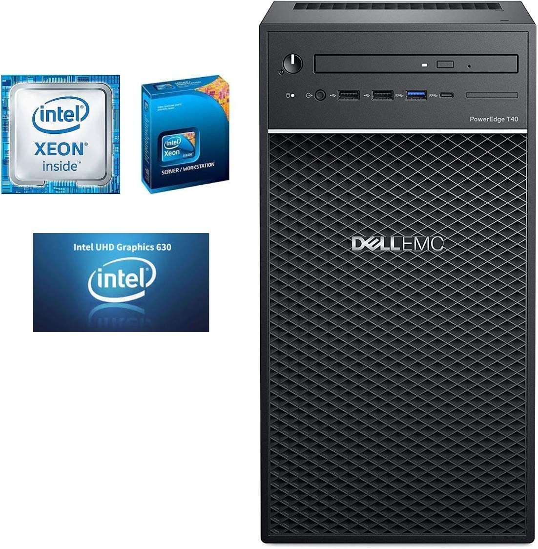 Dell PowerEdge T40 Server, BTX Intel Xeon E-2224G 3.5GHz, 8GB 2666MT/s DDR4, 1TB 7.2K RPM SATA