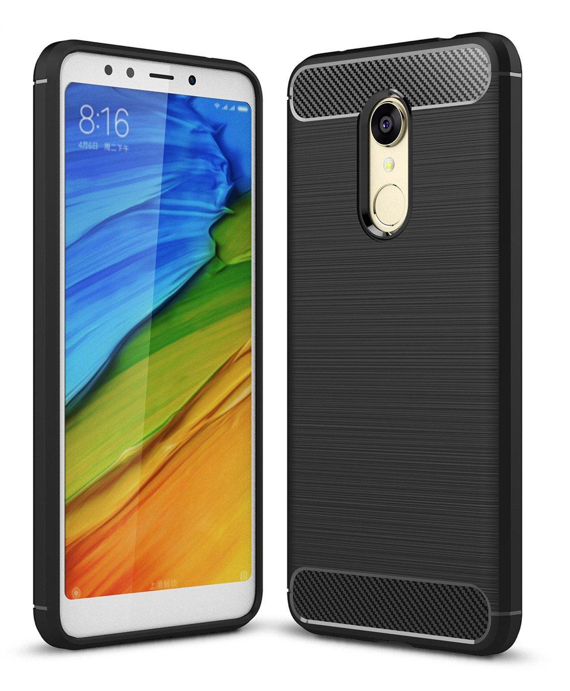 SPAK Xiaomi Redmi 5 Plus Custodia,Ultra Sottile Protettiva Guscio in Silicone TPU Caso per Xiaomi Redmi 5 Plus (Nero)