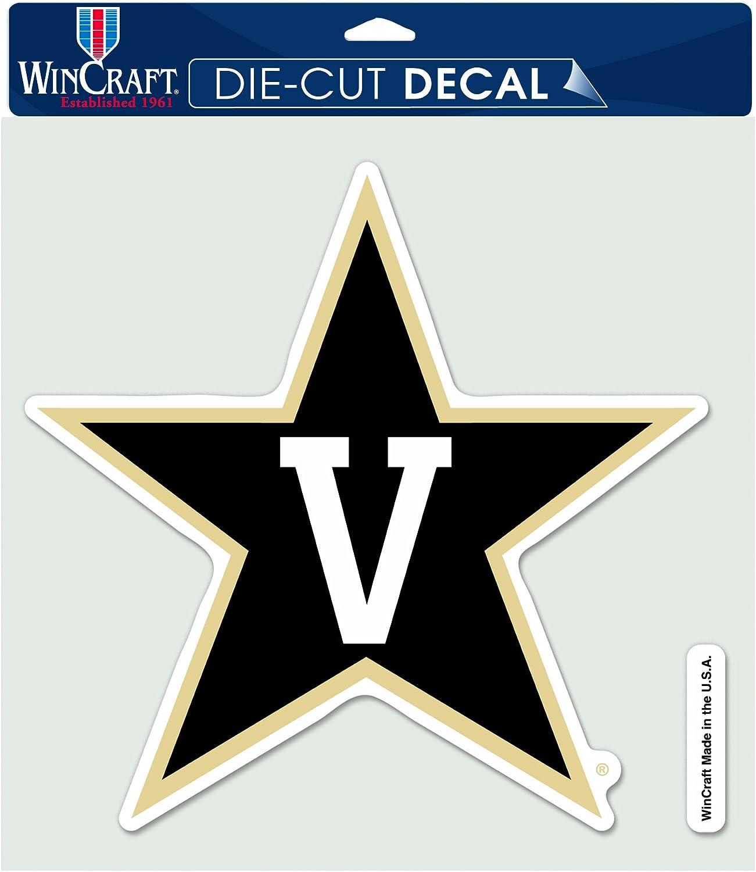 NCAA Vanderbilt Commodores Die Cut Colored Decal, 8 x 8-Inch
