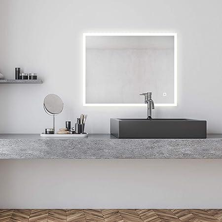 Tonffi Badspiegel Led Beleuchtung Wandspiegel Badezimmerspiegel Mit
