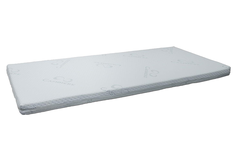 FMP Matratzenmanufaktur 42-0002,viscoelastische Matratzenauflage, Visco-Topper, weiß, 90 x 200 200 x x 8 cm 285cee