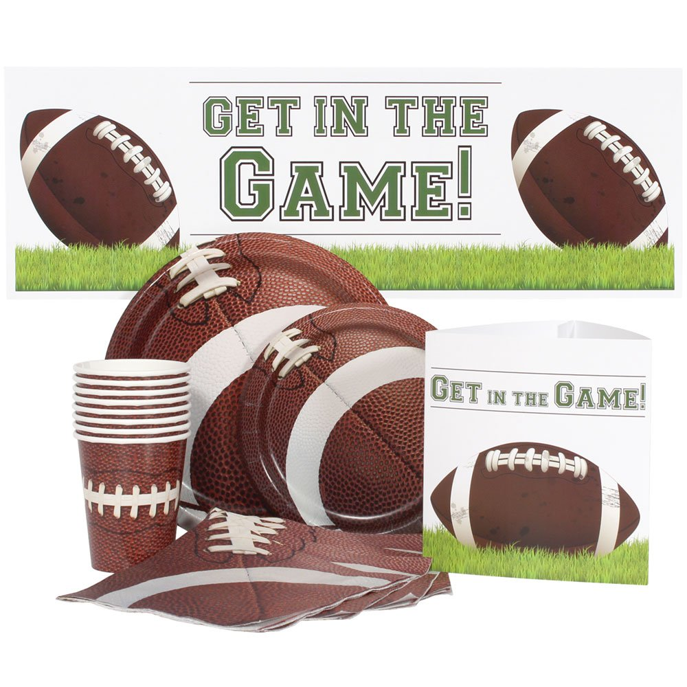 Football Party Supply Package for 16 Guests