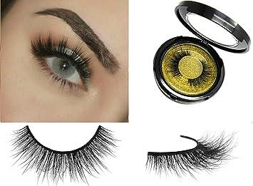 88af53abffb Amazon.com : 100% 3D Mink Fur Eyelashes | Reusable False Eyelash Strips | Handmade  Fake Lashes 1 Pair Kit : Beauty