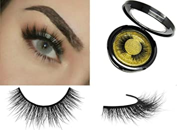 4d0d5a2df09 Amazon.com : 100% 3D Mink Fur Eyelashes   Reusable False Eyelash Strips    Handmade Fake Lashes 1 Pair Kit : Beauty