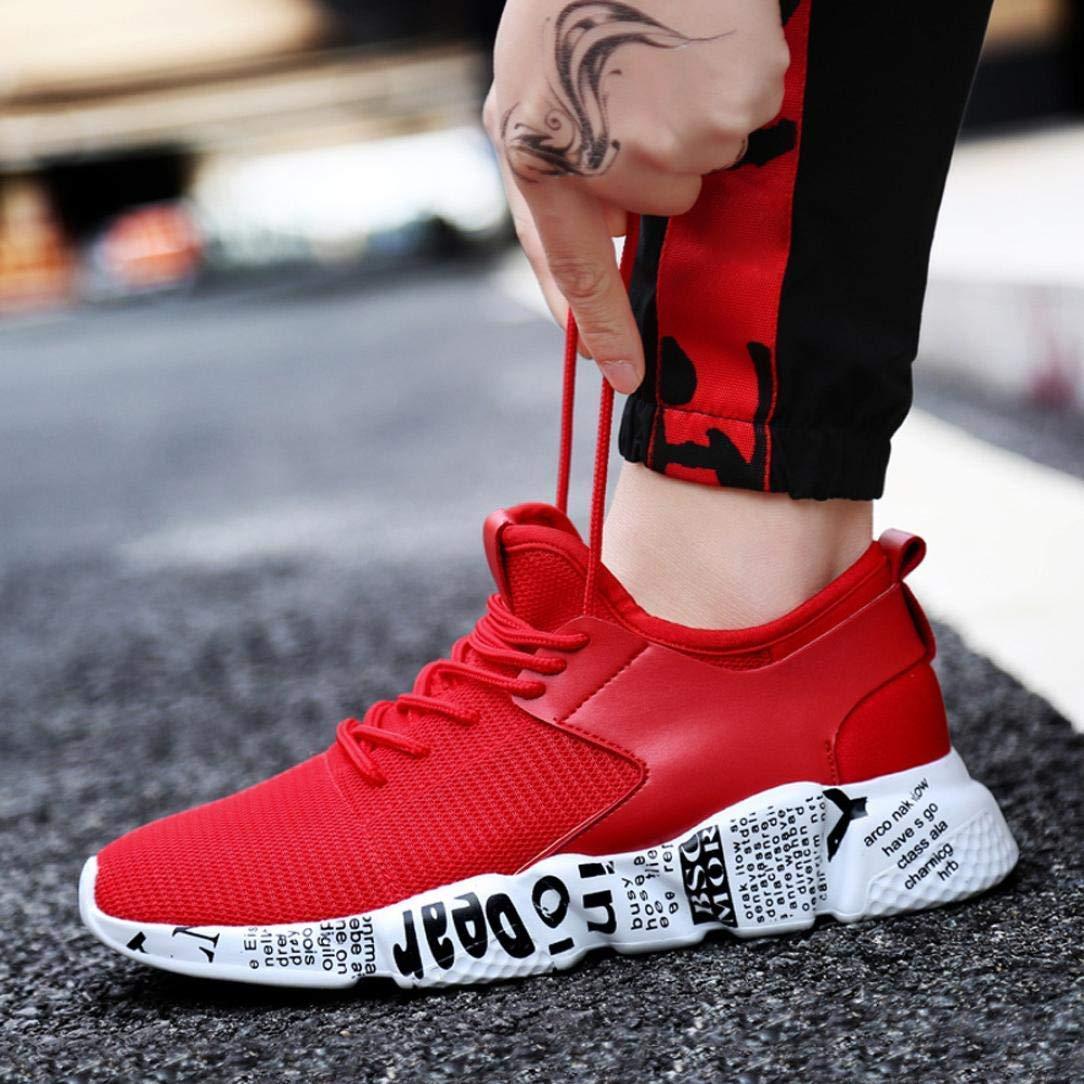ZHRUI Abstand Damen Damen Abstand und Herren Paar Outdoor Mesh Schuhe Casual Lace up Bequeme Sohlen Sneaker Gym Laufschuhe Sportschuhe (Farbe : 6-ROT, Größe : CN 45UK 7.5) - 8ccc85