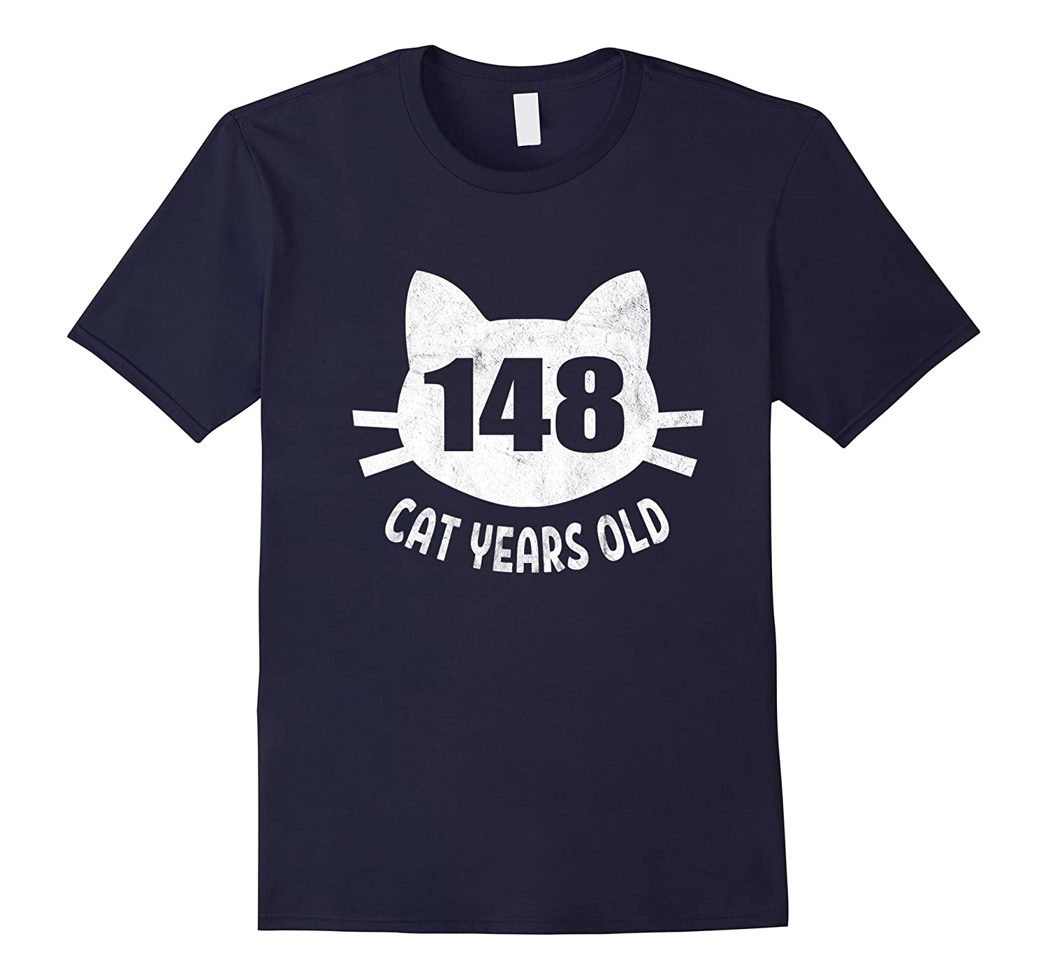148 Cat Years Old T-Shirt Funny 33rd Birthday Gag Gift-Rose