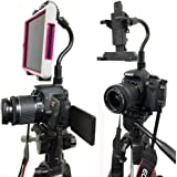 ChargerCity 360º Swivel DSLR Hot Shoe Flash Camera Mount for Apple ipad Mini Samsung Galaxy Tab Dell Venue 6 7 8 inch TabletUse Both DSLR Camera & Selfie Record see yourself simultaneously