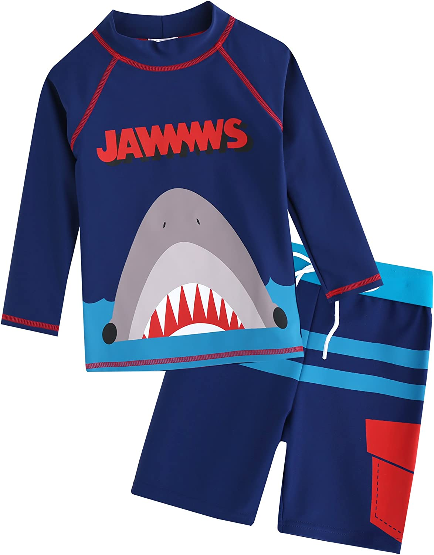 VAENAIT BABY 2T-7T Toddler Kids Boys UPF 50+ UV Protection Rashguard Swimsuit Bathing Suit Sets Quick Dry