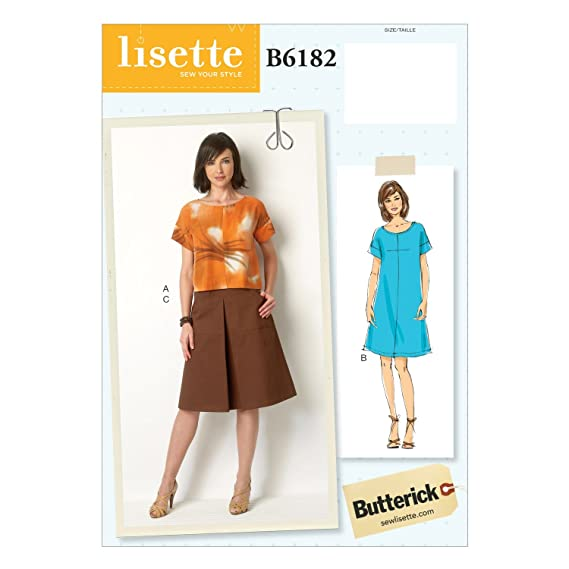 Butterick Patterns 6182 A5 - Patrones de Costura para Camisa ...