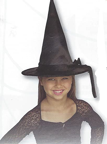 2998453f1bd Amazon.com  Gerson Child s Silk Witch Hat with Black Velvet Band and Rim  Costume Accessory (Black)  Clothing