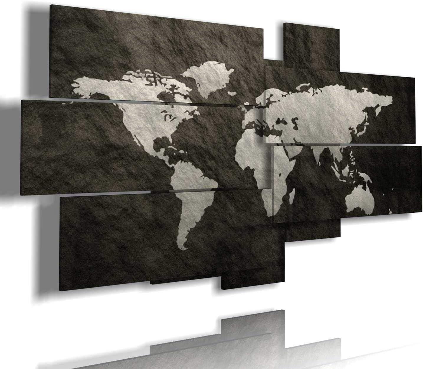 Cartina Mondo Quadro.Duudaart Quadro Cartina Geografica Mondo Moderno 3d Multilivello Quadri Per Ufficio Etnici Amazon It Casa E Cucina
