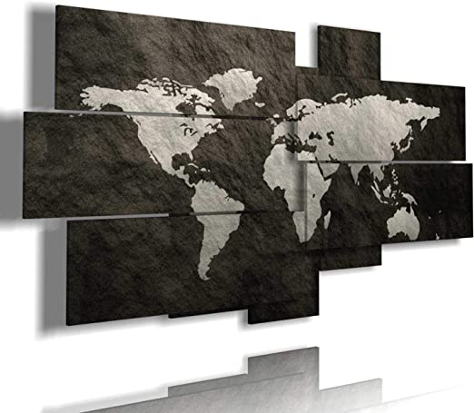 Cartina Geografica Mondo Quadro.Duudaart Quadro Cartina Geografica Mondo Moderno 3d Multilivello Quadri Per Ufficio Etnici Amazon It Casa E Cucina