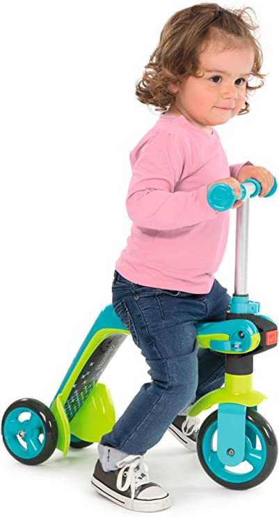 Amazon.com: Smoby - Juguete de patinete reversible 2 en 1 ...