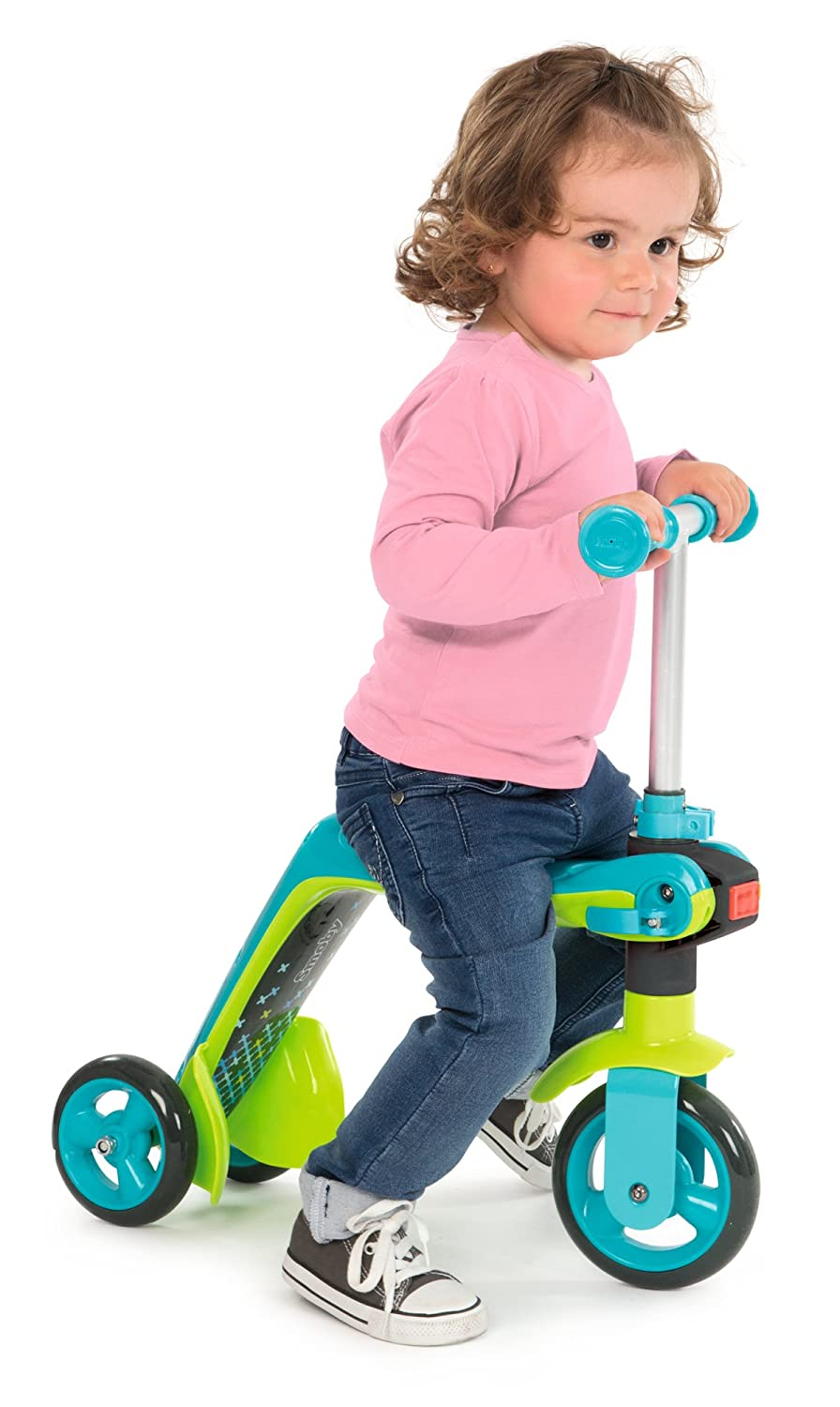 Amazon.com: Smoby Reversible 2 in 1 Scooter Toy, Blue: Toys ...