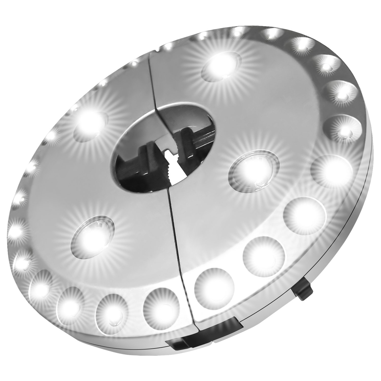 Patio Umbrella Light, PEYOU 3 Brightness Modes 28 LED Lights Wireless Umbrella Light, 4 x AA Battery Operated, Umbrella Light for Patio Umbrellas,Outdoor Use, or Camping Tents