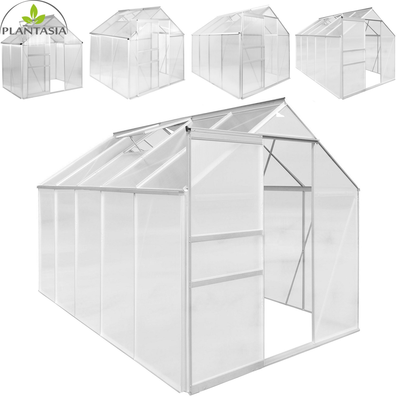 PLANTASIA® Alu Gewächshaus, 3,94 m³ - 9,42 m³ (Größenauswahl), 6 mm ...