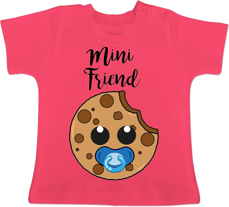 Kurzarm Baby-Shirt f/ür Jungen und M/ädchen Tiermotive Baby Shirtracer Kleiner Stinker