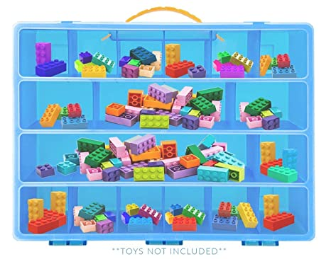 Amazon.com: Life Made Better Lego Building Bricks Carrying Case   Stores  Dozens Of Legos And Building Bricks   Durable Toy Storage Organizers: Toys  U0026 Games
