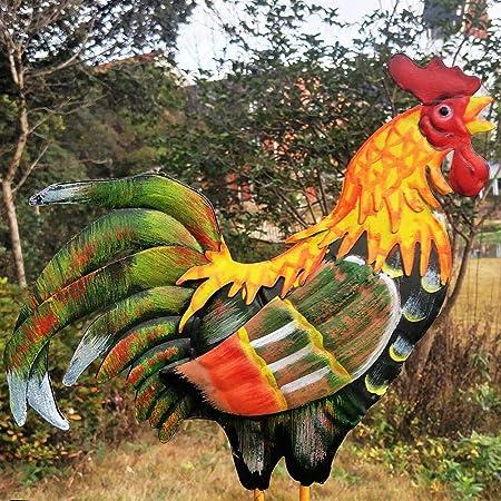 MODGS Color Tradicional Dibujo Gallo Veleta Indicador Wind Spinner Característico Estilo de Gallo para jardín Patio Market Place Patio Tremendous Regular: Amazon.es: Hogar
