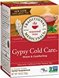 Traditional Medicinals Gypsy Cold Care Herbal Wrapped Tea Bags, 16 ct, .99 Oz, (Pack of 6)