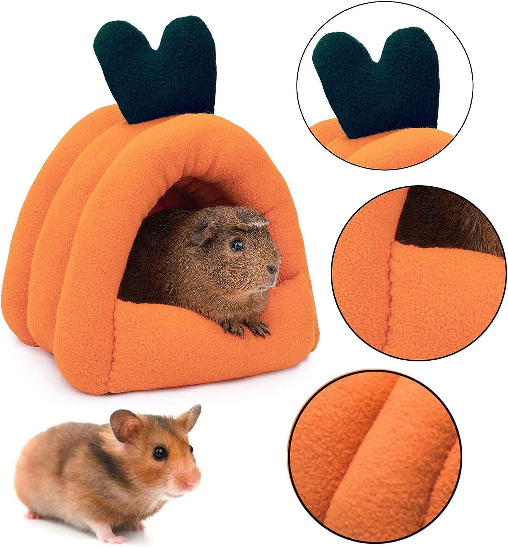 kathson Guinea Pig Cave Bed Cozy Hamster House Squirrel Habitat Cotton Nest Hideout for Hedgehog Rat Chinchilla Cage Accessories