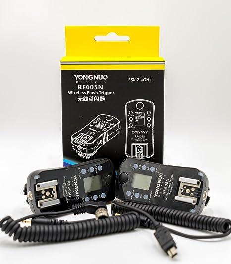 Yongnuo RF605 N disparador disparador de flash inalámbrico y para ...