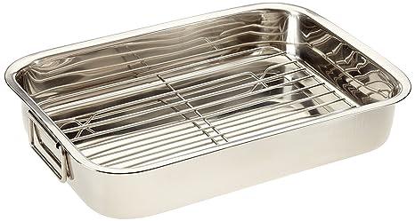 Kochen & Genießen Kitchencraft Stainless Steel 38cm X 27.5cm Roasting Pan Backbleche & -formen