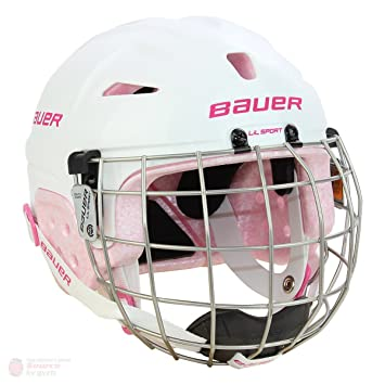 f029bb2f08a Bauer Lil  Sport Youth Hockey Helmet - Combo (Pink)