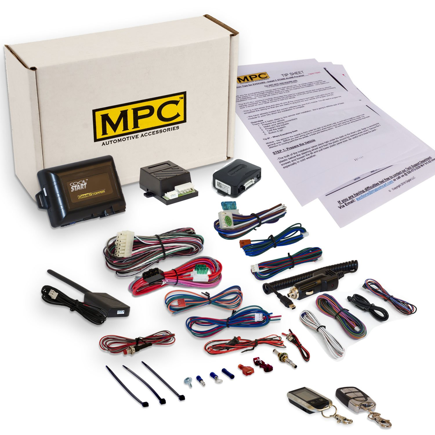 Complete 2 Way Remote Start Kit for Select Chevrolet Vehicles [1998-2005]. Includes Crimestopper RS7 Remote Starter, Bypass Module, & Installation Tip Sheet. Includes Everything You Need