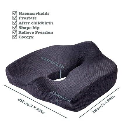 Sumeber - Cojín de espuma viscoelástica para asiento de ...