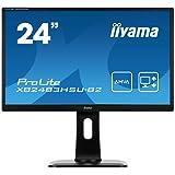 iiyama ProLite XB2483HSU-B2 60,5cm (23,8 Zoll) AMVA LED-Monitor Full-HD (VGA, DVI-D, HDMI, USB2.0, Höhenverstellbar, Pivot) schwarz