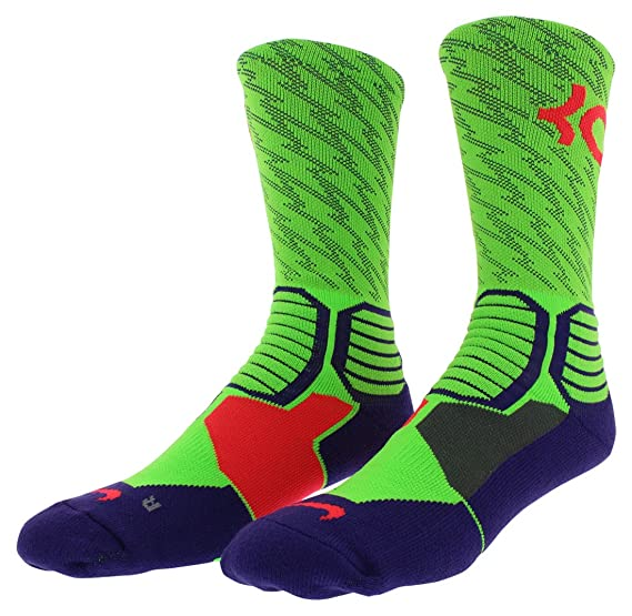 9e64938486fe Amazon.com  Nike KD Hyper Elite Crew Basketball Socks  Clothing