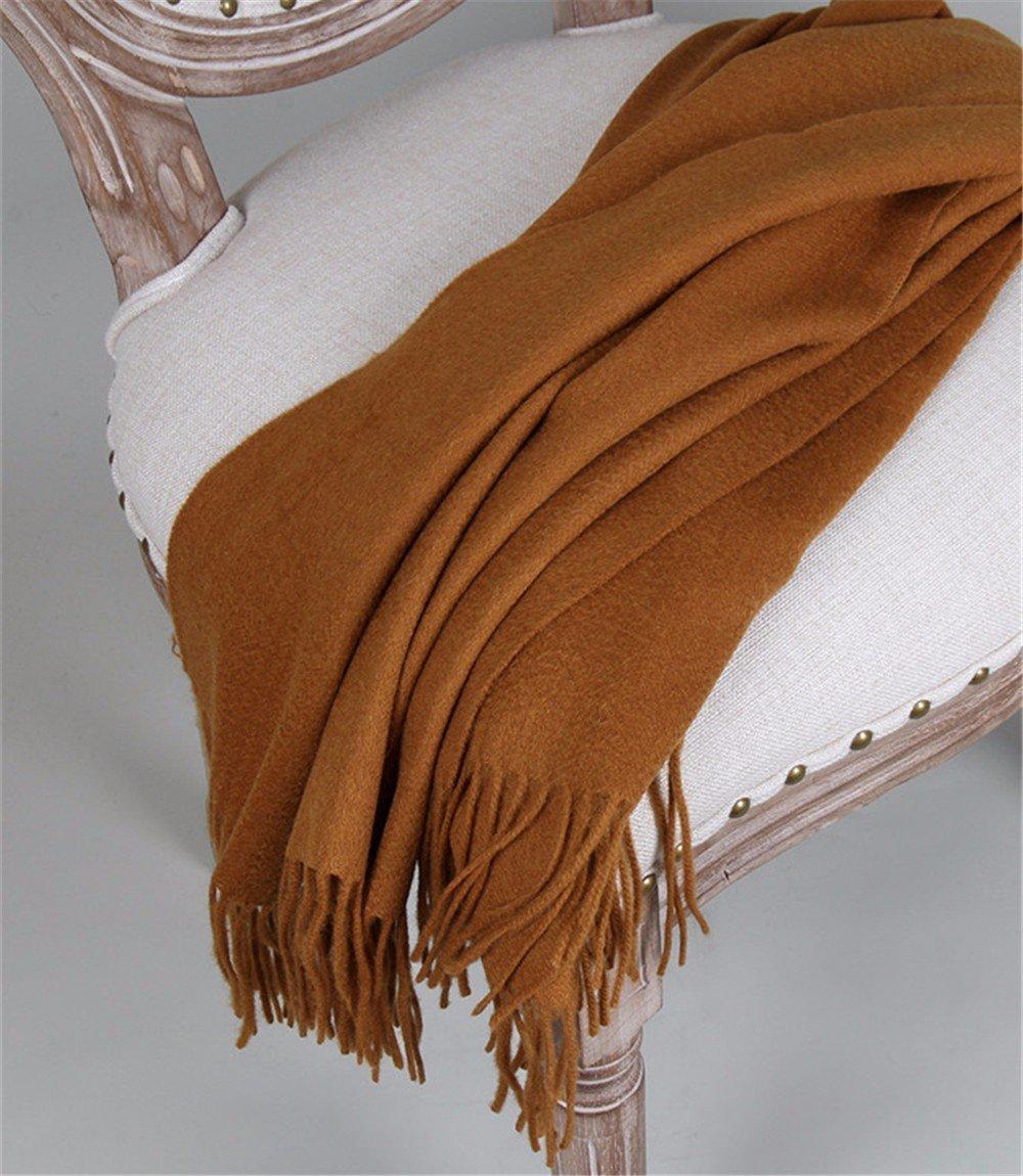 DIDIDD Bufanda-damas espesar otoño e invierno cálida bufanda de lana de cachemira chal de doble uso,...