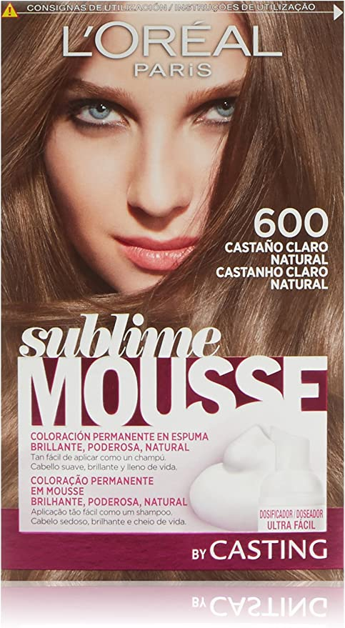 LOréal Paris Sublime Mousse Coloración Permanente, Tono: 600 ...