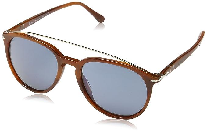 0defd59ffe Persol Sunglasses 3159 9046 56 Striped Brown Blue Anti-Glare  Persol   Amazon.ca  Watches