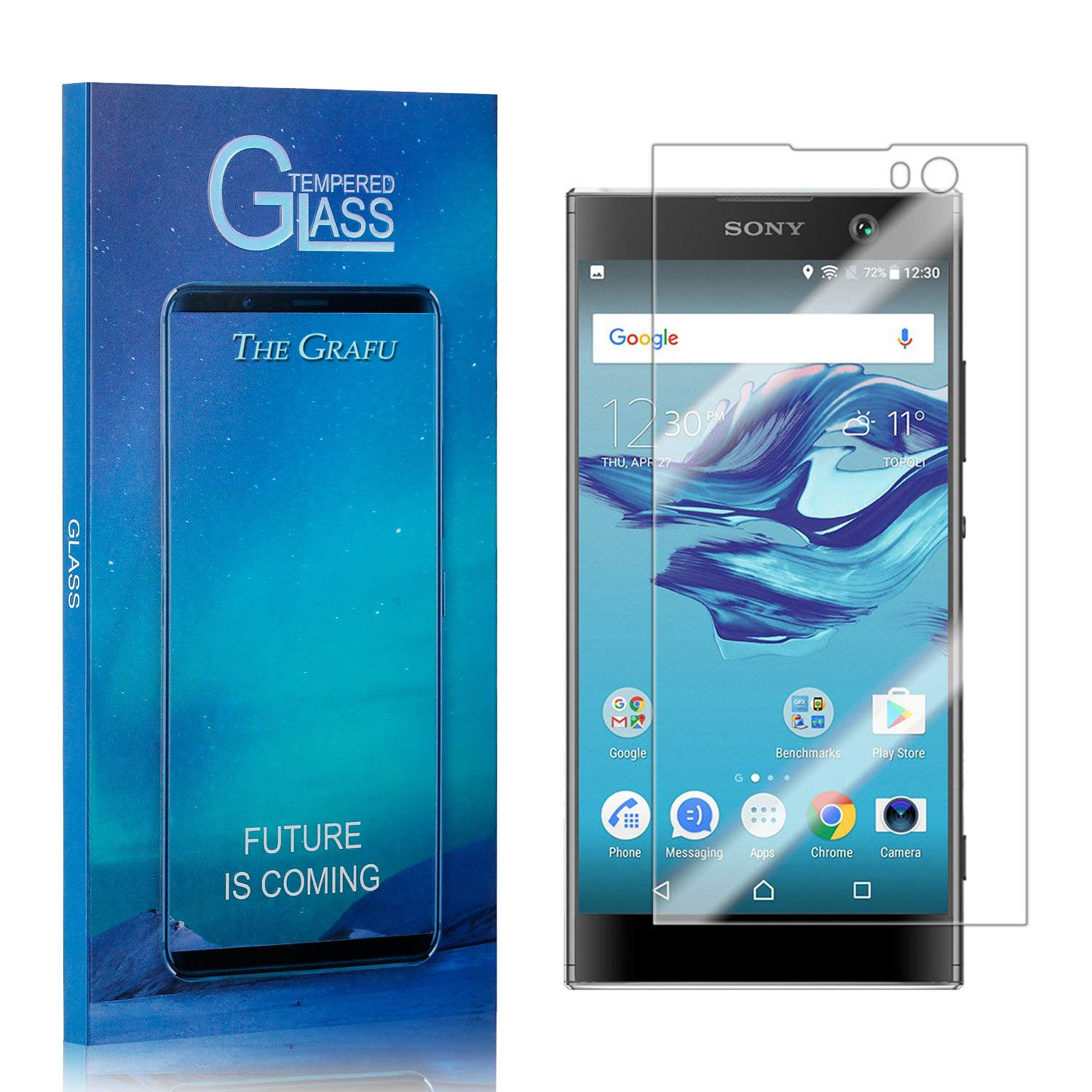 Screen Protector Compatible with Sony Xperia XA2 2 Pack The Grafu 9H Ultra Clear Tempered Glass Screen Protector for Sony Xperia XA2 Drop Fall Protection