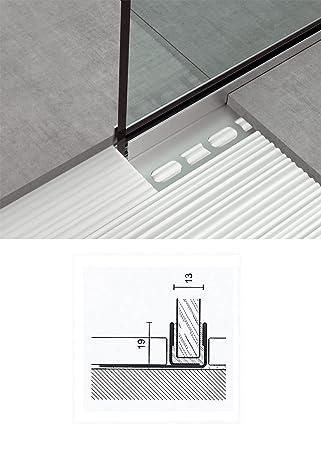 Glas Profil 1 Tlg Fur Wand Und Boden U Winkelprofil Glasdusche