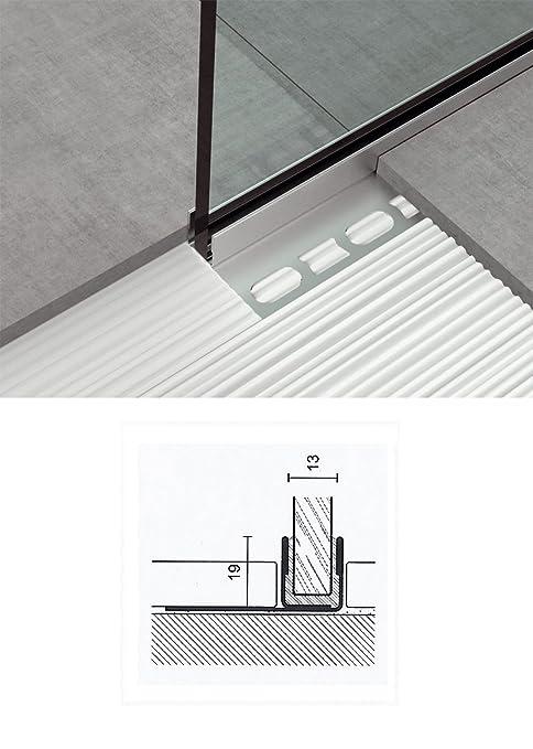 Vidrio-perfil 1 TLG para suelos y paredes U-perfil angular ...