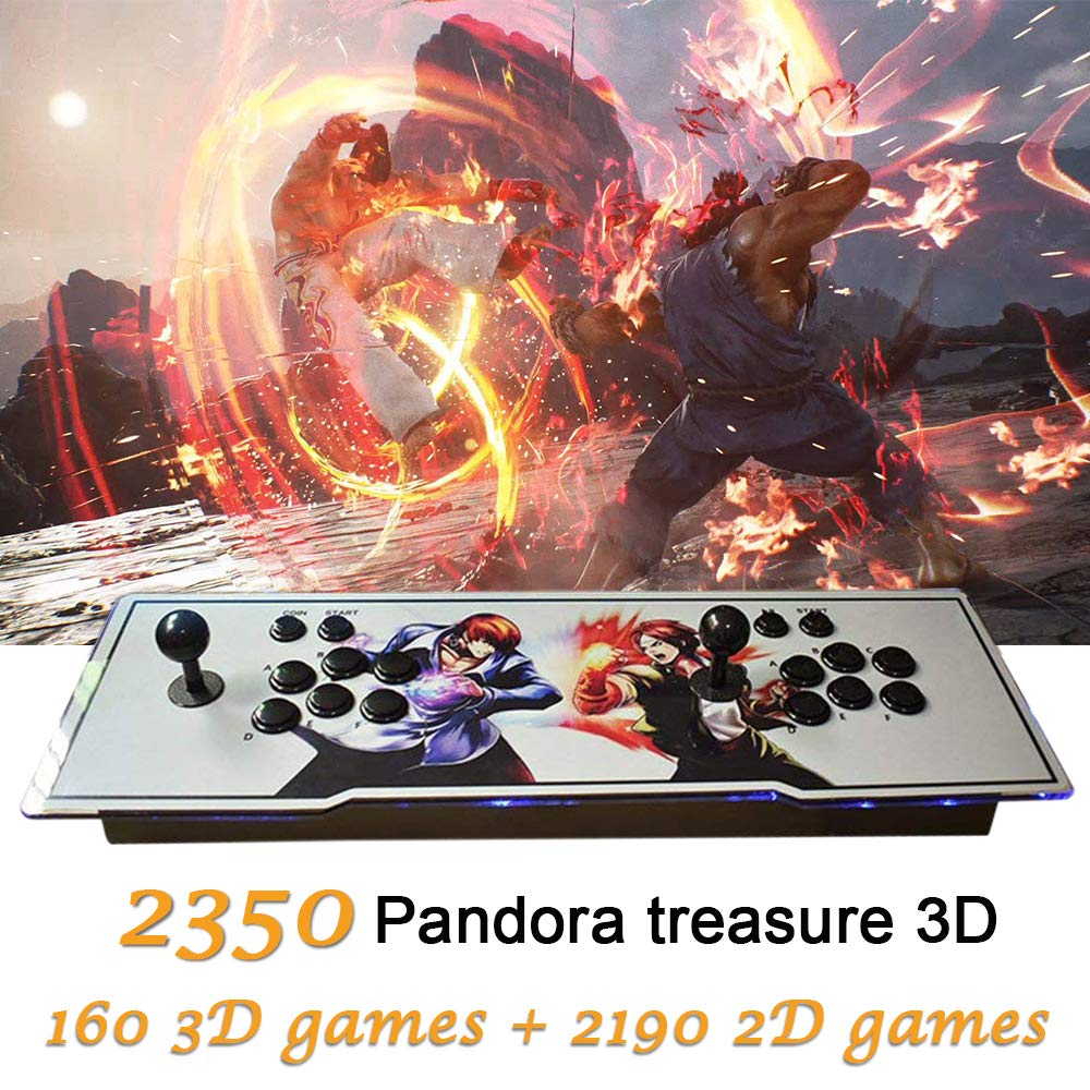 MOSTOP 3D & 2D Arcade Video Game Console 2350 Games in 1 Pandora's Box 160 3D Games 1080P HD 2 Players Arcade Machine with Double Joystick Support Expand 6000+ Games (2350 White King of Fighters) by MOSTOP (Image #1)